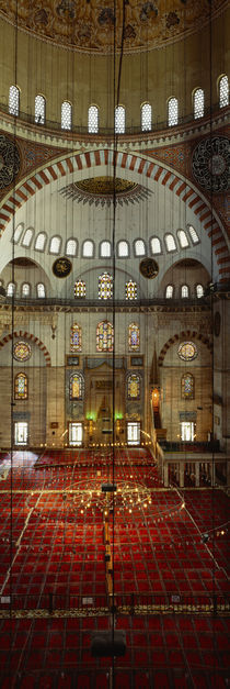Interiors of a mosque, Suleymanie Mosque, Istanbul, Turkey von Panoramic Images
