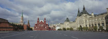 Road leading to the Red Square, State Historical Museum, Kremlin, Moscow, Russia von Panoramic Images