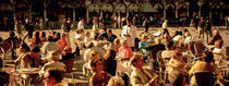 Tourists at a sidewalk cafe, Venice, Italy von Panoramic Images