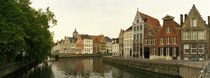 Buildings at the waterfront, Bruges, West Flanders, Belgium von Panoramic Images