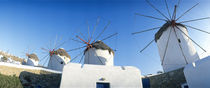 Windmills Santorini Island Greece by Panoramic Images
