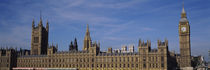 Blue sky over a building, Big Ben and the Houses Of Parliament, London, England by Panoramic Images