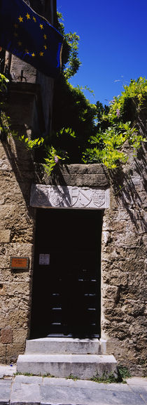 Close-up of a closed door, Street Of The Knights, Rhodes, Greece by Panoramic Images