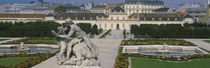 Garden in front of a palace, Belvedere Gardens, Vienna, Austria by Panoramic Images