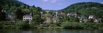 Panorama Print - Häuser Hügel Heidelberg, Baden-Württemberg, Deutschland von Panoramic Images