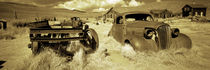 Abandoned car in a ghost town, Bodie Ghost Town, Mono County, California, USA by Panoramic Images