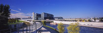 Footpath along a river, Spree River, Central Station, Berlin, Germany by Panoramic Images
