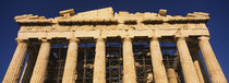 Low angle view of the ruins of a temple, Parthenon, Athens, Greece by Panoramic Images