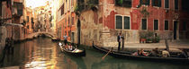 Tourists in a gondola, Venice, Italy von Panoramic Images