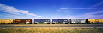 Boxcars Railroad CA by Panoramic Images