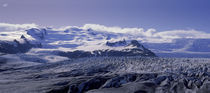 Snowcapped mountains on a landscape, Fjallsjokull and Vatnajokull, Iceland by Panoramic Images