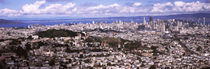 Cityscape viewed from the Twin Peaks, San Francisco, California, USA von Panoramic Images
