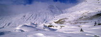 Snowcapped mountain in a polar landscape, Simplon pass, Switzerland von Panoramic Images