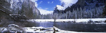 Panorama Print - USA, Kalifornien, Yosemite Nationalpark im Winter von Panoramic Images