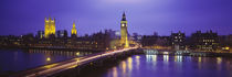 Big Ben Lit Up At Dusk, Houses Of Parliament, London, England, United Kingdom by Panoramic Images