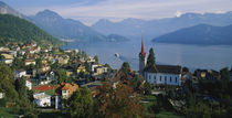 VillageWeggis & Lake Vierwaldstattersee, Switzerland by Panoramic Images