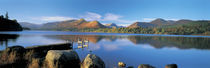 Reflection of mountains in water, Derwent Water, Lake District, England by Panoramic Images