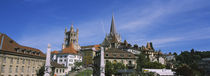 Buildings in a city, Lausanne, Switzerland by Panoramic Images
