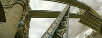 Low angle view of a drawbridge, Tower Bridge, London, England by Panoramic Images
