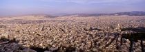 Aerial view of a city, Athens, Greece by Panoramic Images