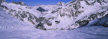 Panoramic view of snowcapped mountains, Stuben, Zurs, Austria by Panoramic Images