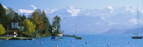 Lake on the mountainside, Lake Thun, Hilterfingen, Canton of Bern, Switzerland by Panoramic Images