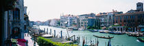 Boats and gondolas in a canal, Grand Canal, Venice, Italy von Panoramic Images