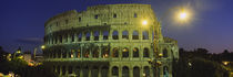 Ancient Building Lit Up At Night, Coliseum, Rome, Italy von Panoramic Images