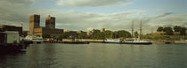 View from Aker Brygge, Town hall at the waterfront, Oslo, Norway by Panoramic Images