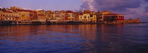 Buildings at the waterfront, Chania, Chania Prefecture, Crete, Greece von Panoramic Images
