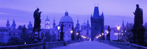 Statues along a bridge, Charles Bridge, Prague, Czech Republic by Panoramic Images