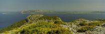 Mountain at the coast, Serra De Tramuntana, Majorca, Balearic Islands, Spain von Panoramic Images
