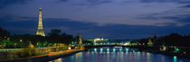 France, Paris, Eiffel Tower , Seine River by Panoramic Images