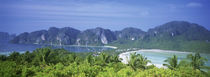 Thailand, Phi Phi Islands, Mountain range and trees in the island by Panoramic Images