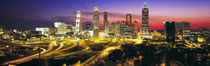 Skyline, Evening, Dusk, Illuminated, Atlanta, Georgia, USA, by Panoramic Images