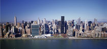 Buildings on the waterfront, Manhattan, New York City, New York State, USA by Panoramic Images