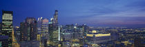USA, Illinois, Chicago, twilight by Panoramic Images