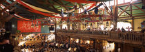 Group of people in the Oktoberfest festival, Munich, Bavaria, Germany von Panoramic Images
