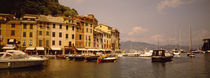 Boats in a canal, Portofino, Italy von Panoramic Images