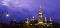 Austria, Vienna, Rathaus, night by Panoramic Images