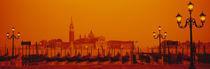 Gondolas moored at a dock, San Giorgio Maggiore, Venice, Italy von Panoramic Images