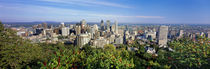 High angle view of a cityscape, Parc Mont Royal, Montreal, Quebec, Canada von Panoramic Images