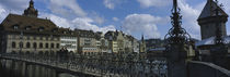 Bridge across a river, Lucerne, Switzerland by Panoramic Images