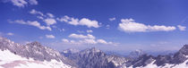 High angle view of mountains, Zugspitze Mountain, Bavaria, Germany von Panoramic Images