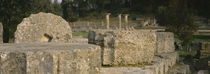 Ruins of a structure, Ancient Olympia, Peloponnese, Greece von Panoramic Images