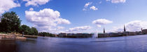 Clouds over a lake, Binnenalster Lake, Hamburg, Germany von Panoramic Images