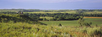 Three mountain bikers on a hill, Kansas, USA von Panoramic Images