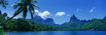Panorama Print - Felsformationen, Moorea Island, Tahiti von Panoramic Images