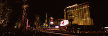City lit up at night, Citycenter, The Strip, Las Vegas, Nevada, USA von Panoramic Images