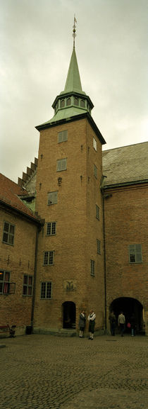 Low angle view of a fortress, Akershus fortress, Oslo, Norway von Panoramic Images